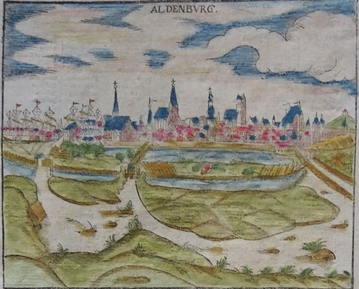 Germany, Westfalen, Oldenburg; S. Münster & Ortelius / Vrients - Aldenburg / Westfalia - 1550 / 1601
