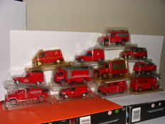 "Solido - Scale 1/43-1/50 - France lot of 12 fire department trucks ""interventions"" 2 x Berliet, 4 x Renault, 2 x Mercedes, 1 x Acmat VLRA,1 x Citroen C35,1 x Peugeot 806, 1 x Land Rover"