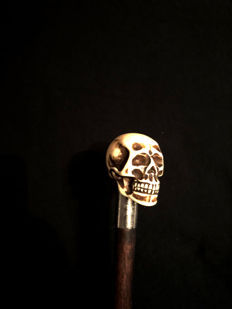 Walking stick, Skull, 1950s