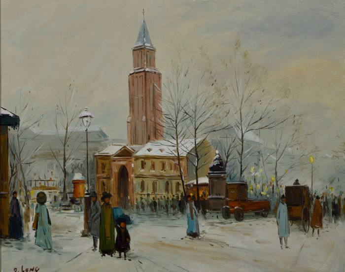 D Long - A winter cityscape