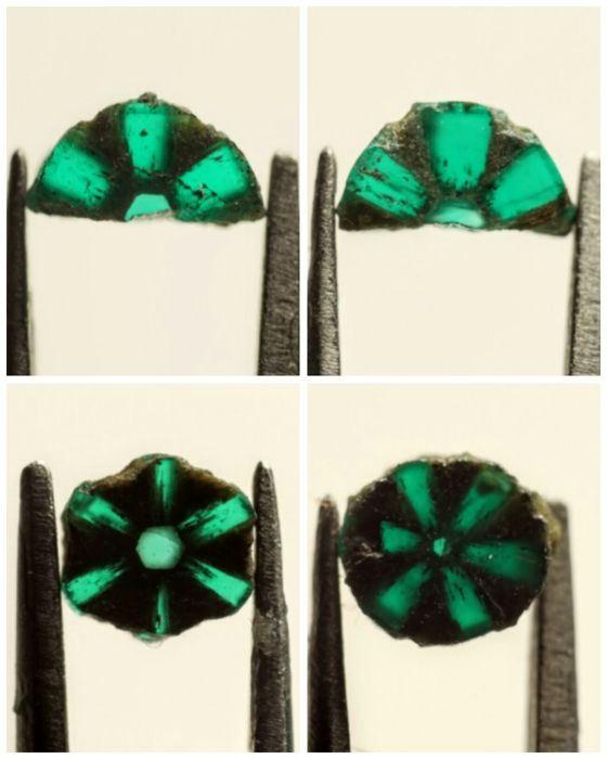 Very rare Trapiche Emerald crystals - 1.4 ct (4)