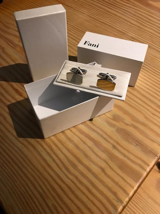 925 Silver Cufflinks Fani jeweller Florence, Italy New