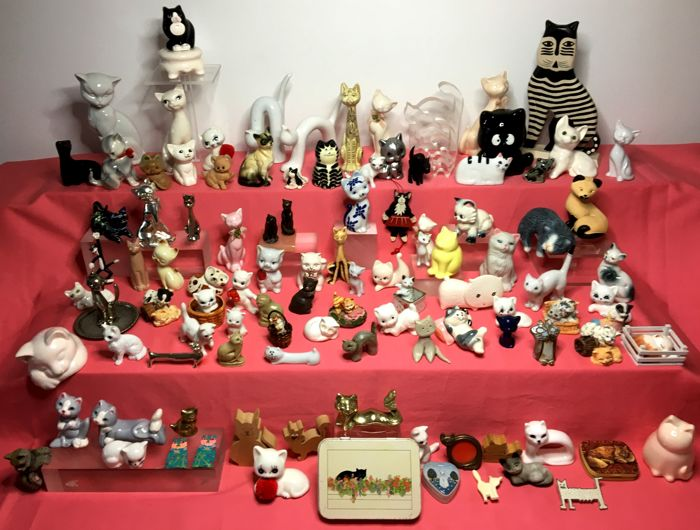 Large collection of cats - 108 items