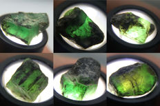 Lot of Natural Emerald Crystals - 20.21 ct (6)