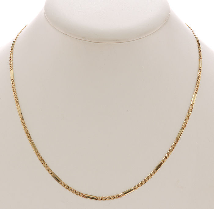 14 kt Yellow gold fantasy necklace - 2 mm - 48 cm