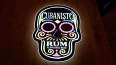 Cubanisto Rum Flavoured Beer illuminated LED advertising sign/lightbox