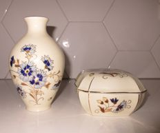 Zsolnay Pecs - Vase and lidded box