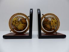 A very nice stylized pair of globe bookends