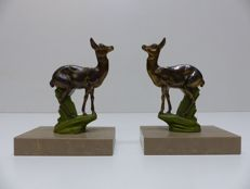 TEDD - Art Deco bookends with a deer