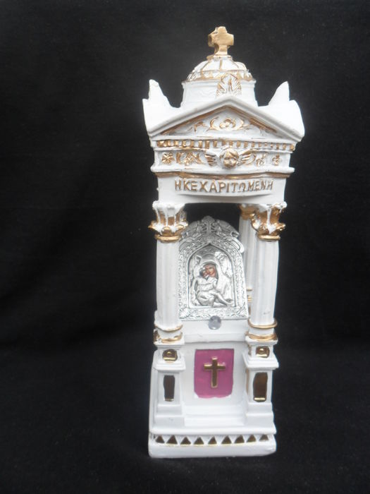 Wood, Reliquary, Our Lady, the Kecharite source of miracles,russia