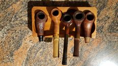 Lot of 5 pipes Big Ben with holder.