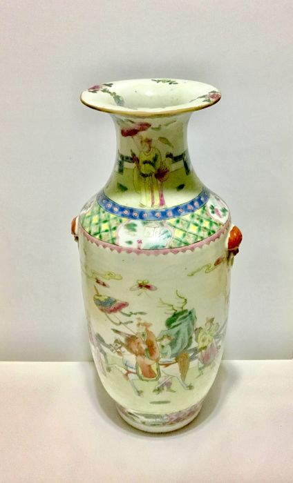 A Famille Rose vase, China, late 19th century