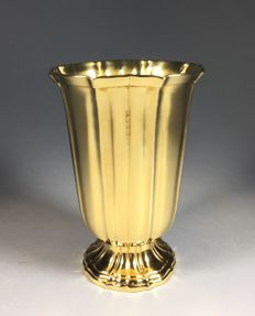 Christian Dior Paris - gilt brass vase, France, 1970s