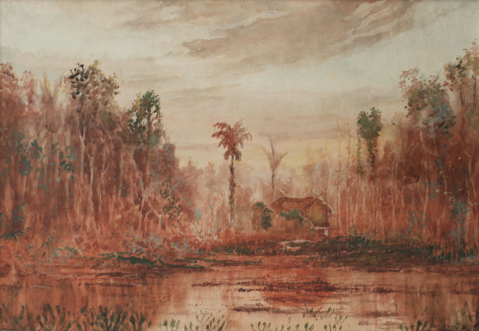 Watercolour - Indonesia - 1st half 20th century