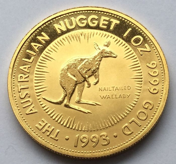 Australia - 100 Dollars 1993 Nailtailed Wallaby - 1 oz .999 - Oro