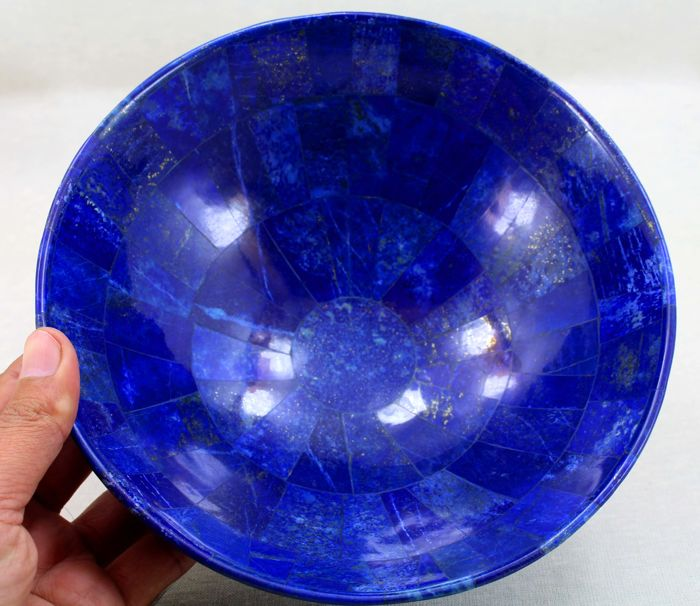 Fine Quality Large Size Handcrafted Lapis Lazuli Bowl - 200 x 100mm - 738 gm