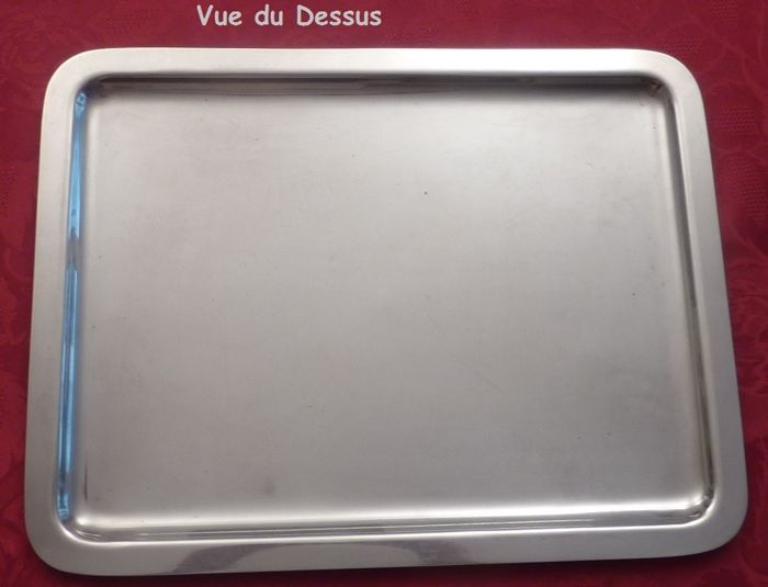 Silver-plated metal tray, Christofle-Gallia, Rectangle 43 x 33 cm