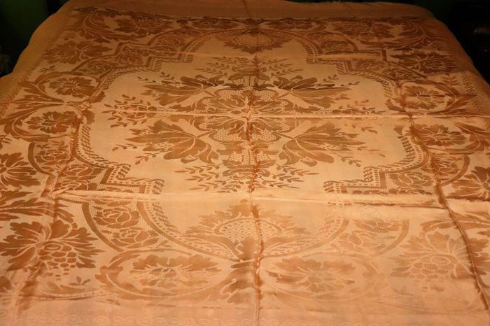 Damask bed quilt from a private collection in Portugal