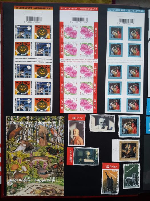 Belgium 2004 - year set of stamps and blocks with commemorative cards and post cards