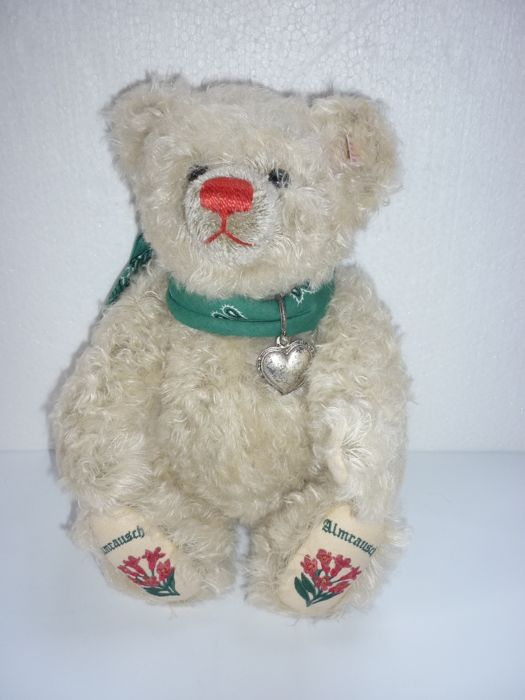 Steiff 660597 Teddy Bear Almrausch ed lim: 1262/2000 new condition in original box 36 cm mohair