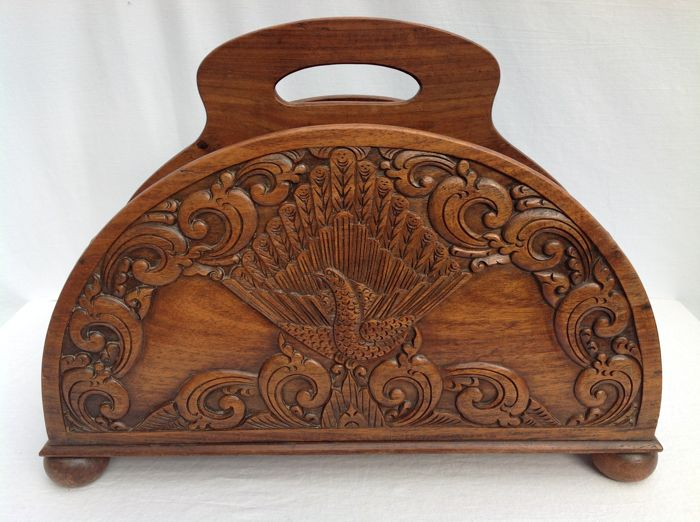 Good Rich, Wood Carved, Magazine Rack   Indonesia   2nd Half Of The 20th Great Ideas