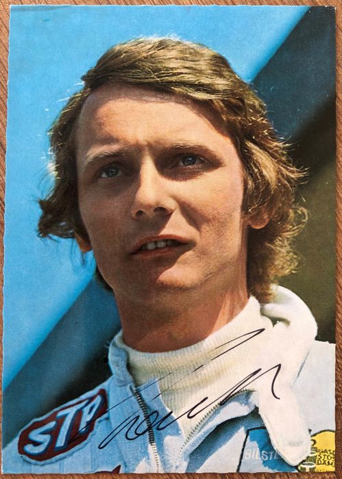 Niki Lauda signed Formula One postcard