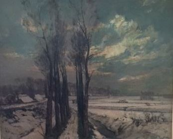 David Schulman (1981-1966) - Winter in de Betuwe