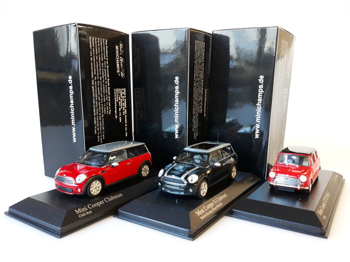 Minichamps - Scale 1/43 - Lot with 3 Mini Cooper models