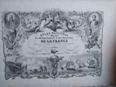 Atlas; Levasseur - Atlas National Illustre Des 86 Departements Et Des Possessions De La France - 1851