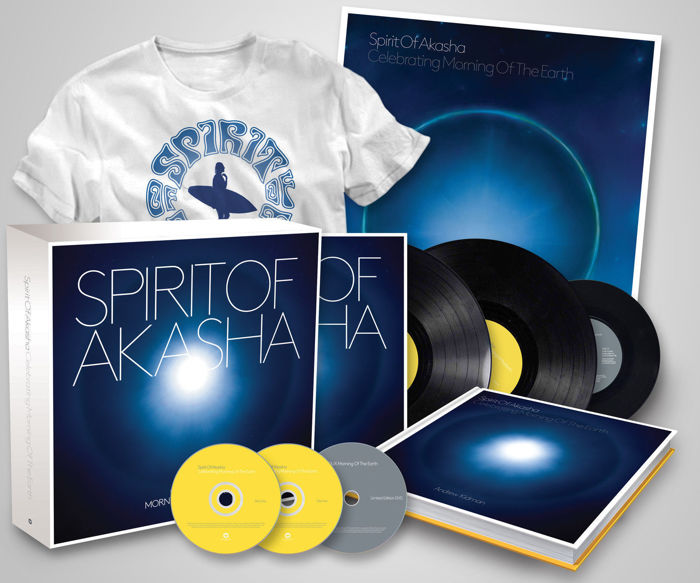 Spirit Of Akasha – Celebrating Morning Of The Earth / 2xLP + 2xCD + DVD + 7 inch + T-Shirt + Poster + 120 page Hardbound Book / Limited Edition  Box Set Of 600 Copies /Sealed