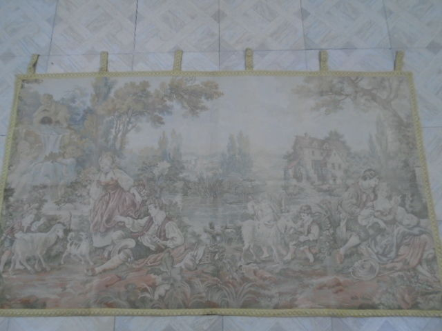 vintage pictorial tapestry , second half of the 20th century, France 179 x 102 cm