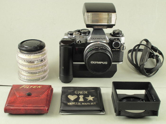 olympus om10 with manual adapter 1 8 50 mm set with winder flash rh auction catawiki com Olympus Tough Accessories Memory Cards for Digital Cameras