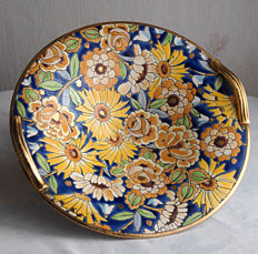 Henri Chevallier for BOCH - Polychrome earthenware Art Deco dish