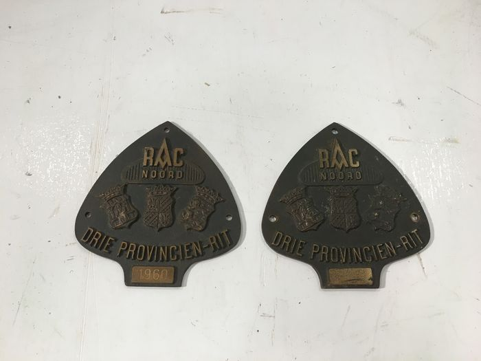 Two Rally Badges RAC Noord, 1960