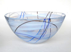 "Anna Ehrer for Kosta Boda - large, heavy bowl ""Contrast"""