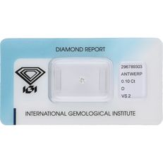 0.10 ct round brilliant cut diamond, D VS2