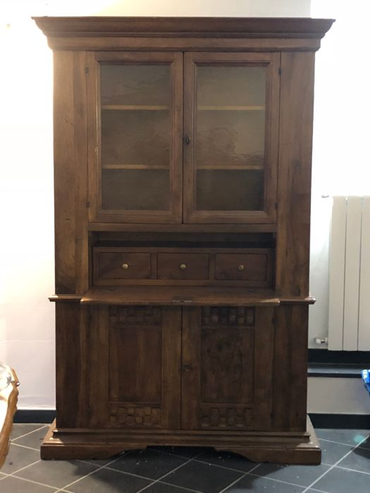 Solid walnut cupboard, Italy, 20th century