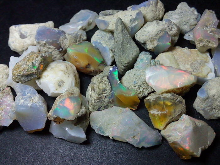 Big lot Beautiful Natural Rough Welo Opal - 9 to 22 mm - 165.7 cts