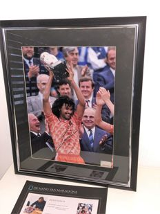 Ruud Gullit Official UEFA EURO 2016 Signed and Framed Netherlands Photo: UEFA EURO 1988 Winner