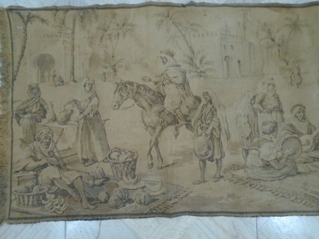 vintage pictorial tapestry , second half of the 20th century, France 137 x 47 cm