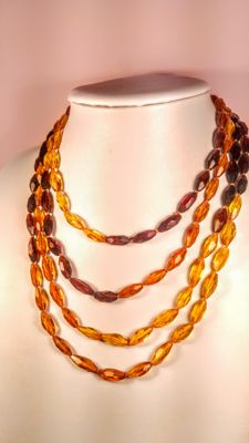 Baltic Amber necklace, length 200 cm