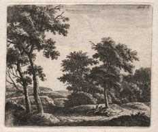 Anthonie Waterloo (1610-1690) - Two shepherds resting beneath a tree - Ca .1650