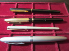 Lot consisting of 3 fountain pens and 1 ballpoint pen