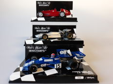 Minichamps - Scale 1/43 - Lot with 3 classic sports car models: Alfa Romeo, De Tomaso Ford & Tyrrell Ford
