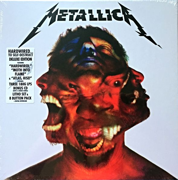 """Metallica – Hardwired...To Self-Destruct 2xLP + 12"""" + CD Box-Set /  Deluxe  Limited Edition, Coloured Vinyl / Sealed"""