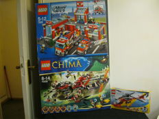 City + Chima + Creator  - 7945 + 70006 + 5866 + 5866 - Fire Station + Cragger's Command Ship and more