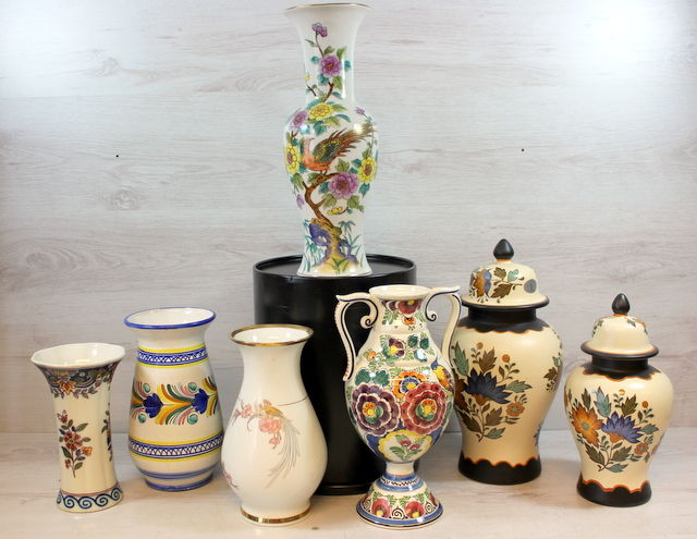 Collection of ceramics-faience brand vases