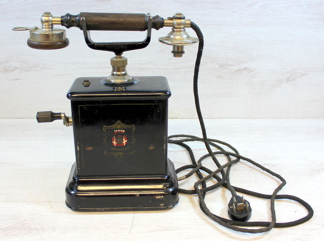 JYDSK - An antique telephone from Denmark circa 1910