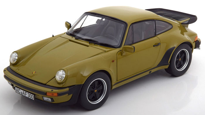 Norev - Scale 1/18 - Porsche 911 (930) Turbo 3.3l Coupe - Year 1977 - Colour Olive Green