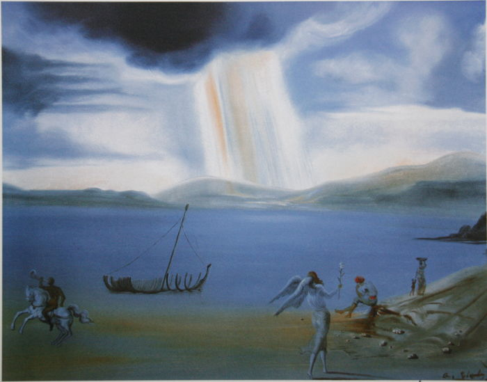 Salvador Dalí (after) - Landscape with Angel